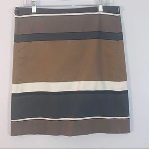 'S Max Mara Mini Skirt Brown/Black Striped Size 12